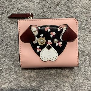 Kate Spade small L-Zip Pup Dog Bifold Wallet